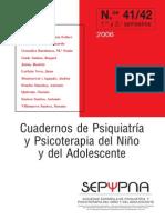 Cuaderno de Psiquiatría y Psicoterapia Del Niño y Del Adolescente