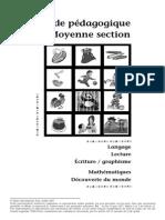 Guide Pédagogique Moyenne Section