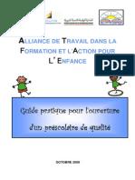 Guide Pratique Pour l'Ouverture d'Un Préscolaire de Qualité