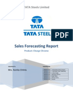 Tata Steel Sales Forecast Report for Chrome Product