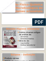 Avaliação Físico-Química e Microbiológica de salames artesanais