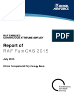 Report of RAF FamCAS 2015 Survey - Royal Air Force Raf Famcas Report 2015