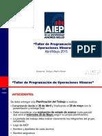 Pauta Presentación Trabajo Nº 2 Taller de Programación de Opreaciones Mineras 2015-1
