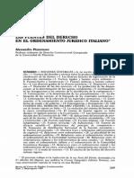 Fuentes Del Derecho en El Ordenamiento Juridico Italiano