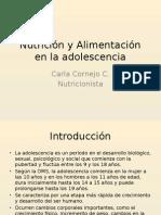 NutriciOn y AlimentaciOn Del Adolescente.