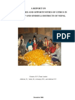 Potentialities and Opportunity of Citrus in Ramechhap and Sindhuli District of Nepal