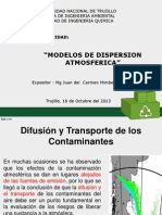 Modelo de Dispersion de Contaminantes Atmosfericos