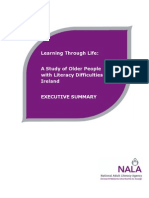 Learning Through Life - A Study of Older People With Literacy Difficulties in Ireland - Executive Summary