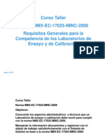 Presentación Curso de La NMX-EC-17025-IMNC-2006