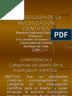 Conf 2 Categorías de La Inv. Cient.