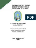 Análisis del caso prestige en Galicia