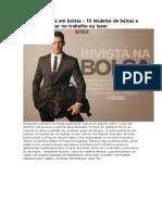 Invista Em Bolsas - 10 Modelos de Bolsas e Pastas Para Usar No Trabalho Ou Lazer