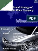 Global Brand Strategy of Hyundaei