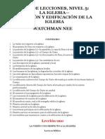 Watchman Nee Libro de Lecciones Nivel 5 La Iglesia