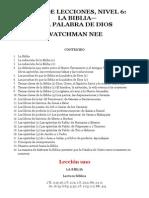 Watchman Nee Libro de Lecciones Nivel 6 La Biblia