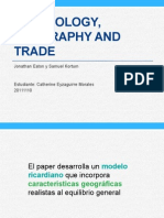 Trade, geography and technology