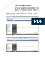 Practica 6 Importar y Exportar Base de Datos