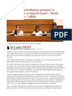 Sri Lanka Consultative Process is Necessary for a Hybrid Court – North -East Women ( WAN)