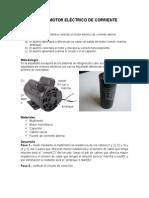 Conexión de Motor Eléctrico de Corriente Alterna.