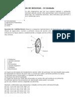 PROVA de BIOLOGIA 1 Ano Protozoarios Poriferos Cnidarios