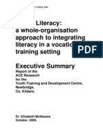 Living Literacy a Whole-Organisation Approach to Integrating Literacy in a Vocational Training Setting
