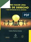 Como Hacer Una Tesis de Derecho y No Envejecer en El Intento - Carlos Ramos Nuñez