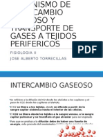 Mecanismo de Intercambio Gaseoso y Transporte de Gases