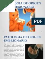 PATOLOGIA DE ORIGEN EMBRIONARIO.pptx