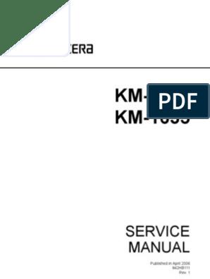 KM-1635_2035 Service Manual Ver 1 | Electromagnetism