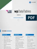 WpDataTables 1.6 Presentation