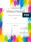 GCD Participant Certificate