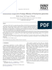 International Comparison of Energy Efficiency of Fossil-power Generation