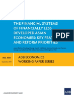 Financial Systems of Financially Less Developed Asian Economies
