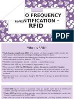RADIO FREQUENCY Identification – Rfid
