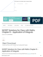 NCERT Solutions for Class 12th Maths Chapter 8 - Application of Integrals