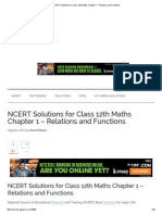 NCERT Solutions for Class 12th Maths Chapter 1 - Relations and Functions