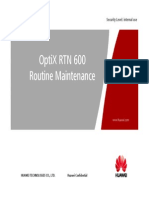 OptiX RTN 600 Routine Maintenance
