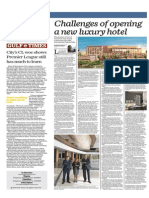 Challenges of Opening a New Luxury Hotel - Gulf Times 17 September 2015
