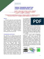 Progress Towards Adaptive Aircraft Engine Nacelles