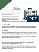 Electrical Engineering Portal.com Megger Tests