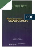 Propuestas para la Arqueología (Presentación)