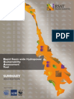 RSAT • Rapid Basin-wide Hydropower Sustainability Assessment Tool