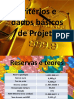 Dados para projeto mineiro