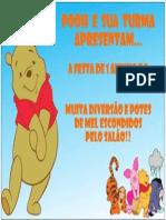 Modelo de Convite Pooh