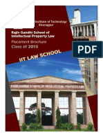 RGSOIPL_IIT Law School_Placement Brochure_Batch of 2015