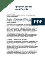 Regarding Good Conduct Towards Ones Parents