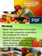 Preparing Fresh Vegetables PPT