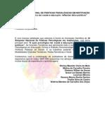 XI Simpósio Nacional de Práticas Psicológicas Em Instituição - Instruções e Normas