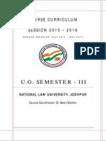 NLUJ Course Curriculum