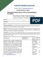 Pulmonary Tuberculosis and Its Haematological Correlates-1